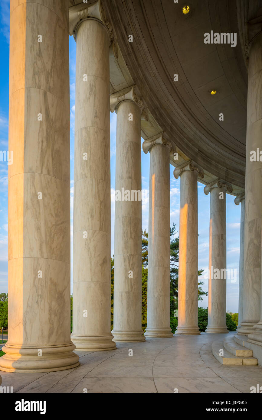 The Thomas Jefferson Memorial is a presidential memorial in Washington, D.C. that is dedicated to Thomas Jefferson, - Stock Image