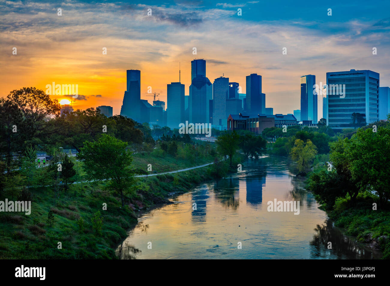 Houston is the most populous city in Texas and the fourth most populous city in the United States, located in Southeast - Stock Image