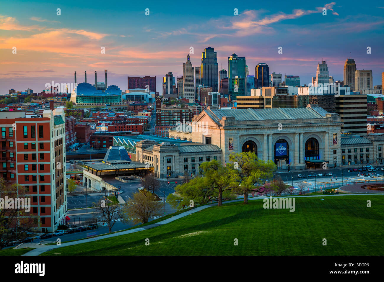 Kansas City (often referred to as K.C.) is the most populous city in the U.S. state of Missouri. In 2010, it had - Stock Image