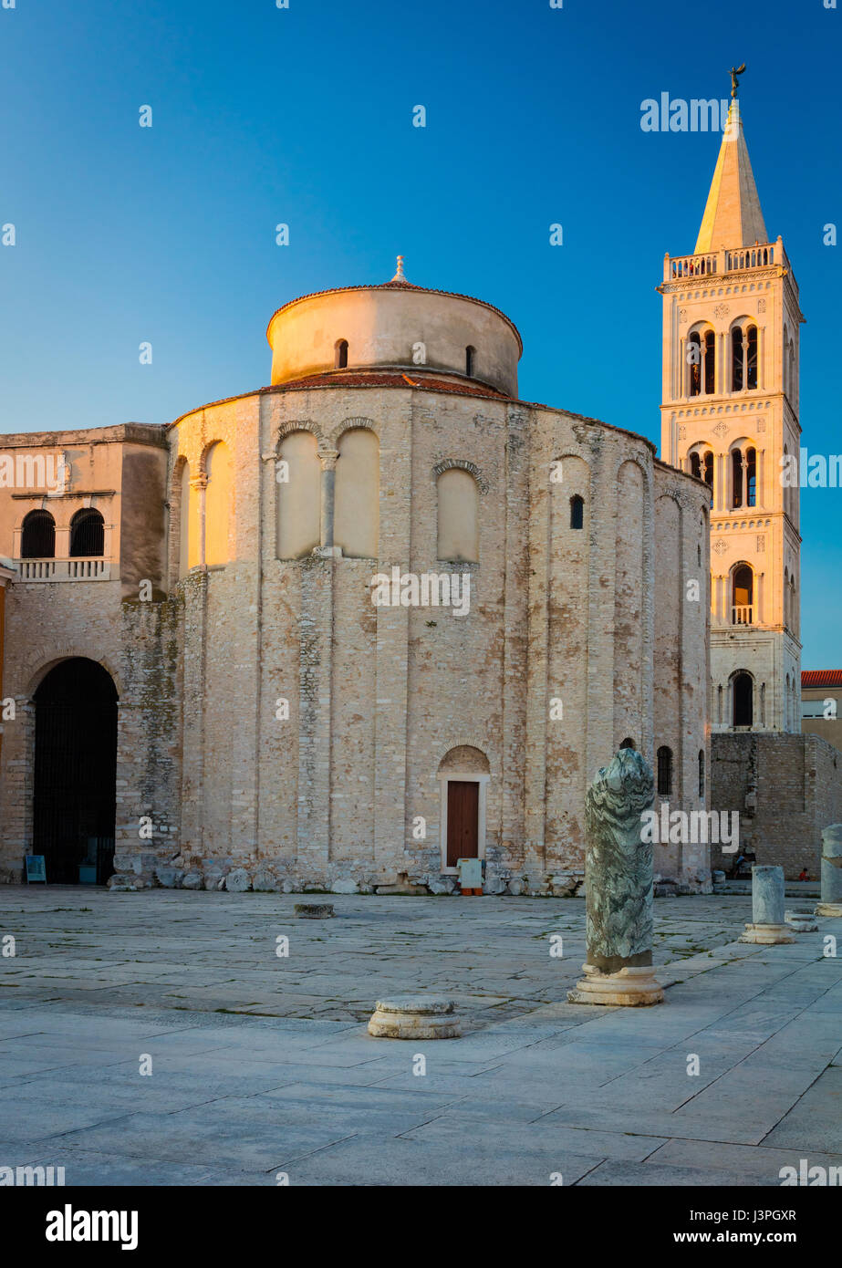 The Church of St. Donatus is a church located in Zadar, Croatia. Its name refers to Donatus of Zadar, who began - Stock Image