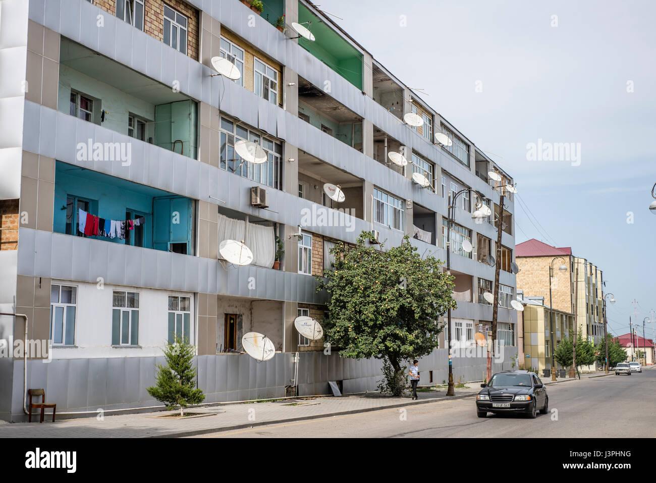 A street in Quba town, Azerbaijan - Stock Image