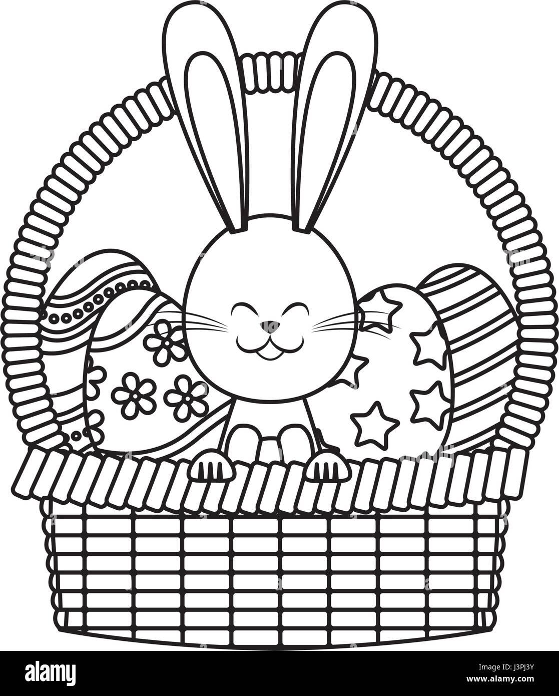 Easter Rabbit Basket Egg Decoration Line
