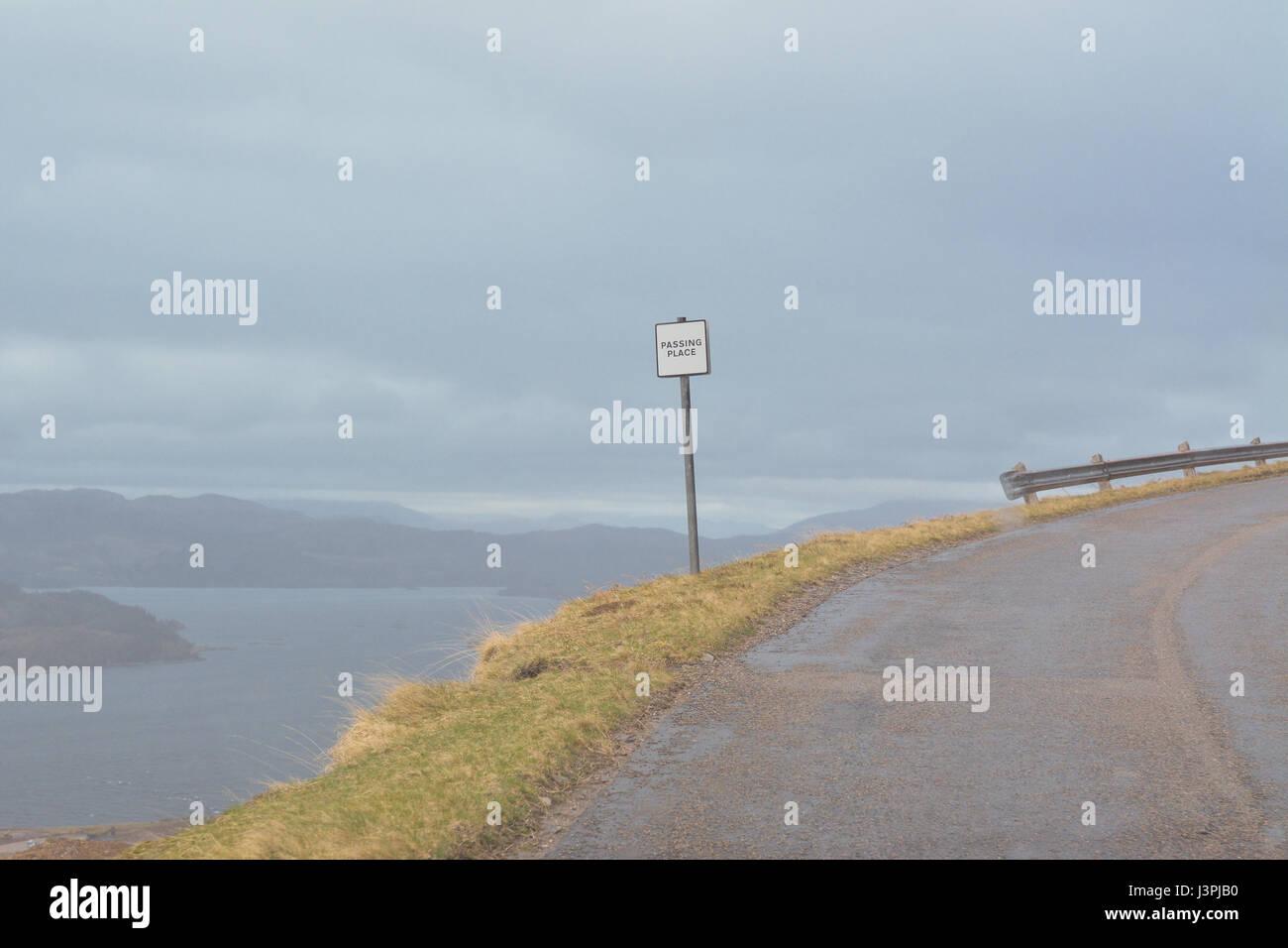 Bealach na Ba passing place - Stock Image
