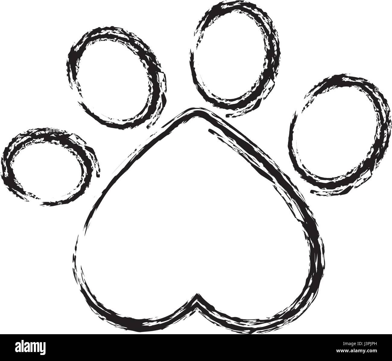 Dog Paw Print Icon Stock Vector Art Illustration Vector Image