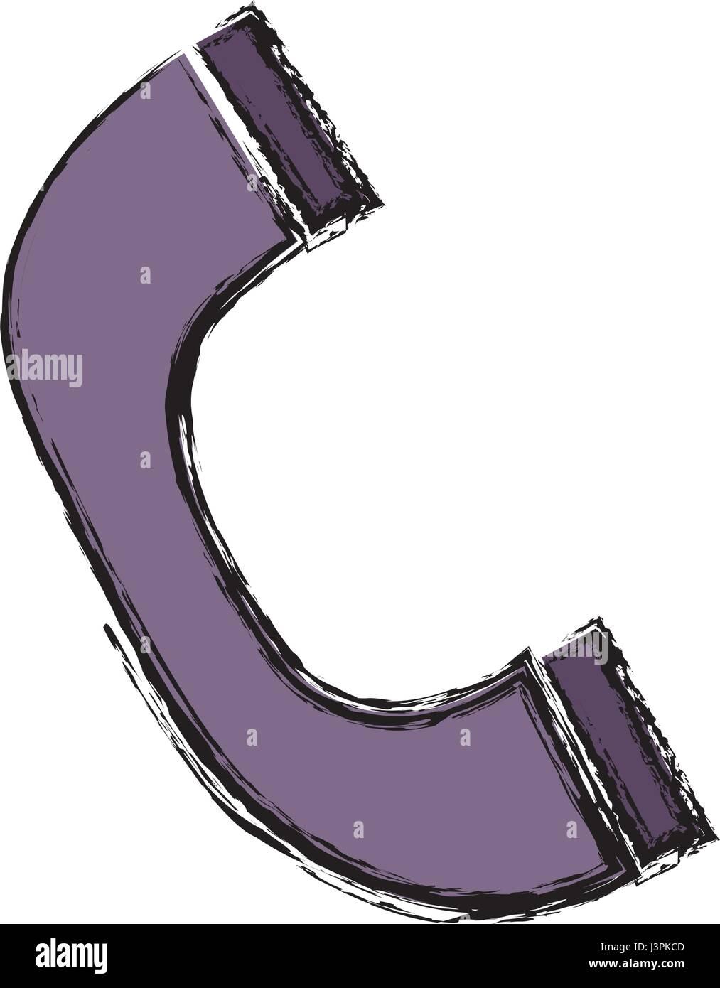 phone handset icon - Stock Image