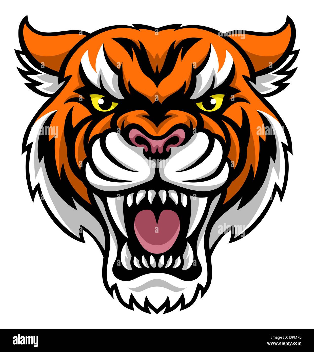 An angry looking tiger mascot animal character Stock Photo ...