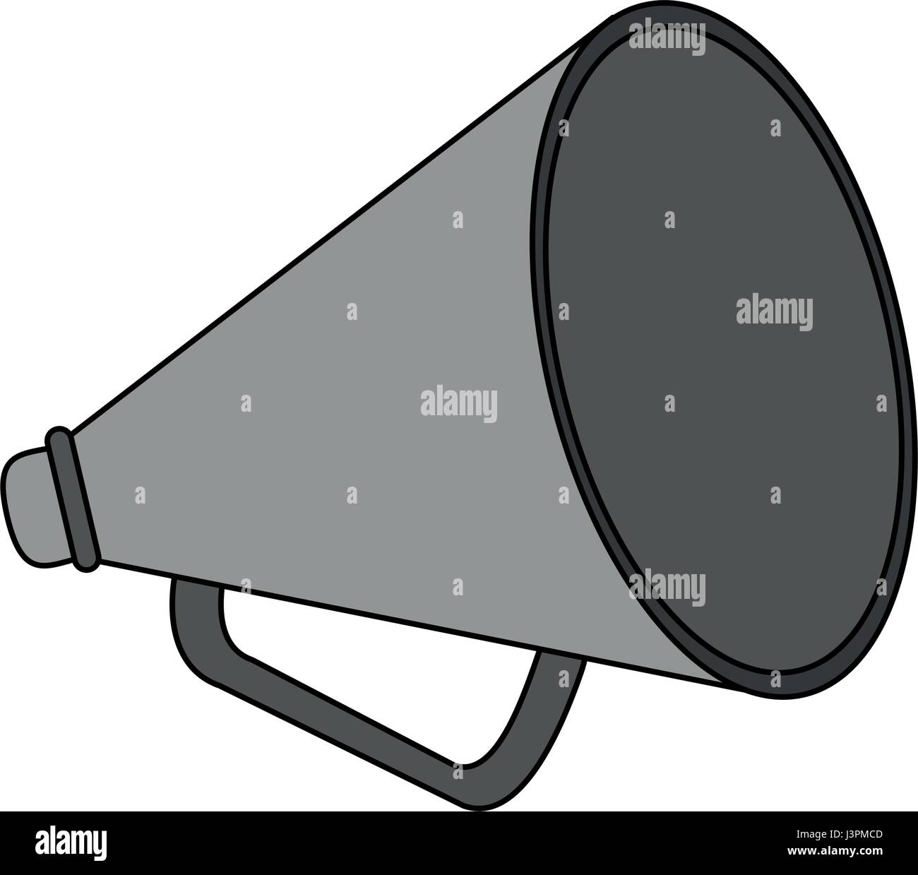 color image cartoon megaphone flat icon - Stock Vector