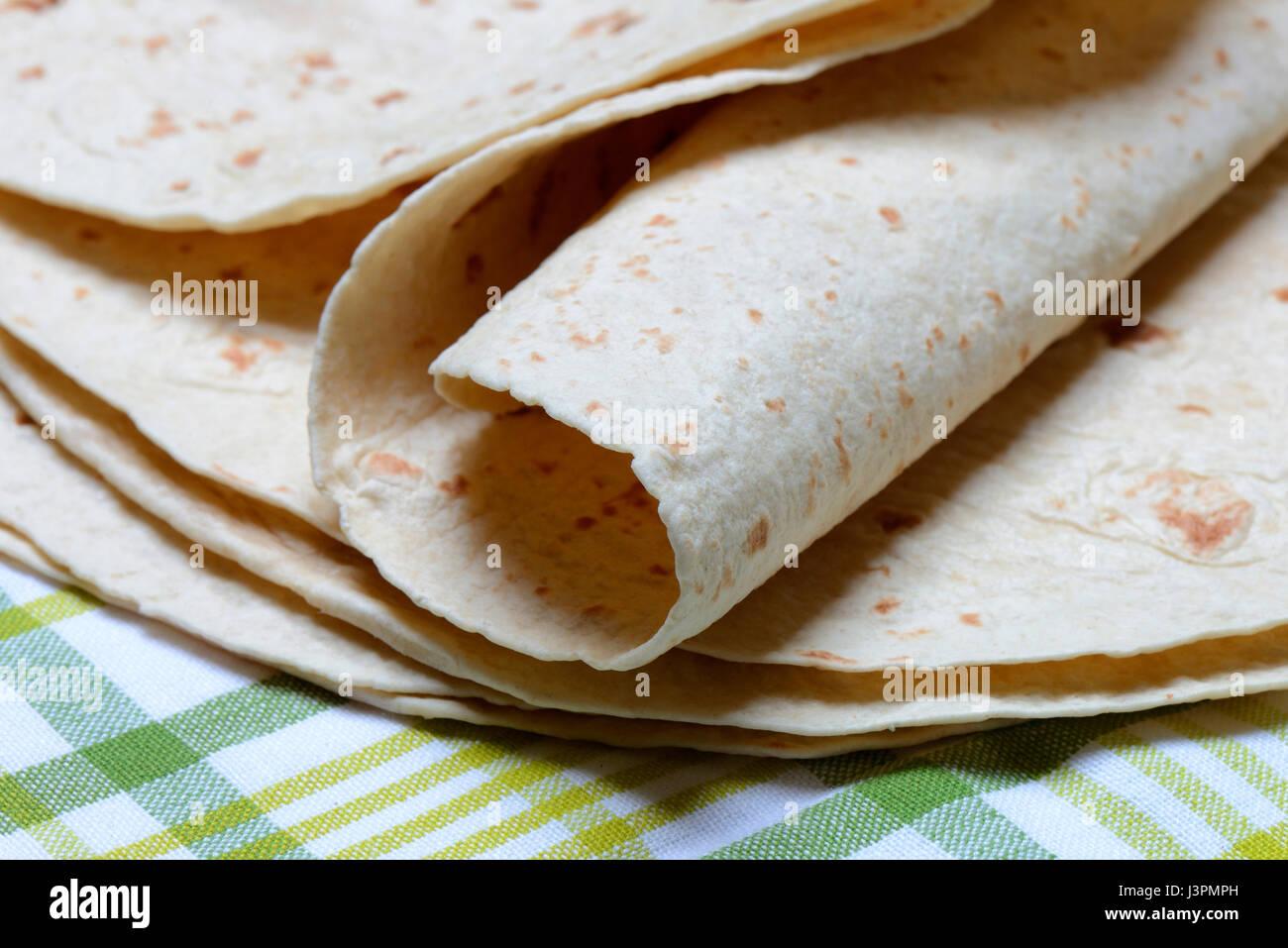 Tortilla, Tortillas, Mexiko, mexikanisch, mexikanische - Stock Image