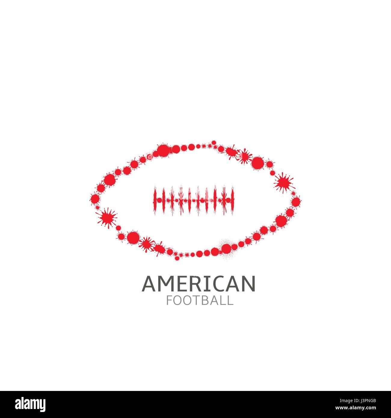 American football ball Stock Vector