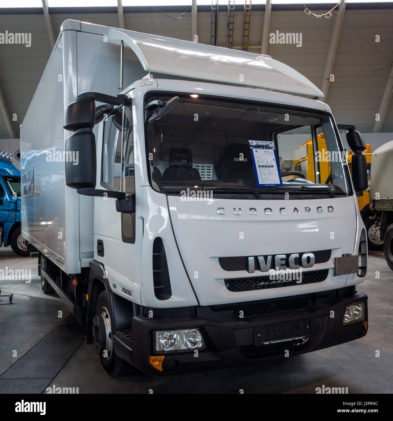 "STUTTGART, GERMANY - MARCH 03, 2017: Truck Iveco Eurocargo, 2011. Europe's greatest classic car exhibition ""RETRO Stock Photo"