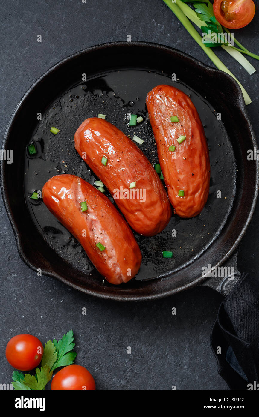 how to cook pan fried sausages