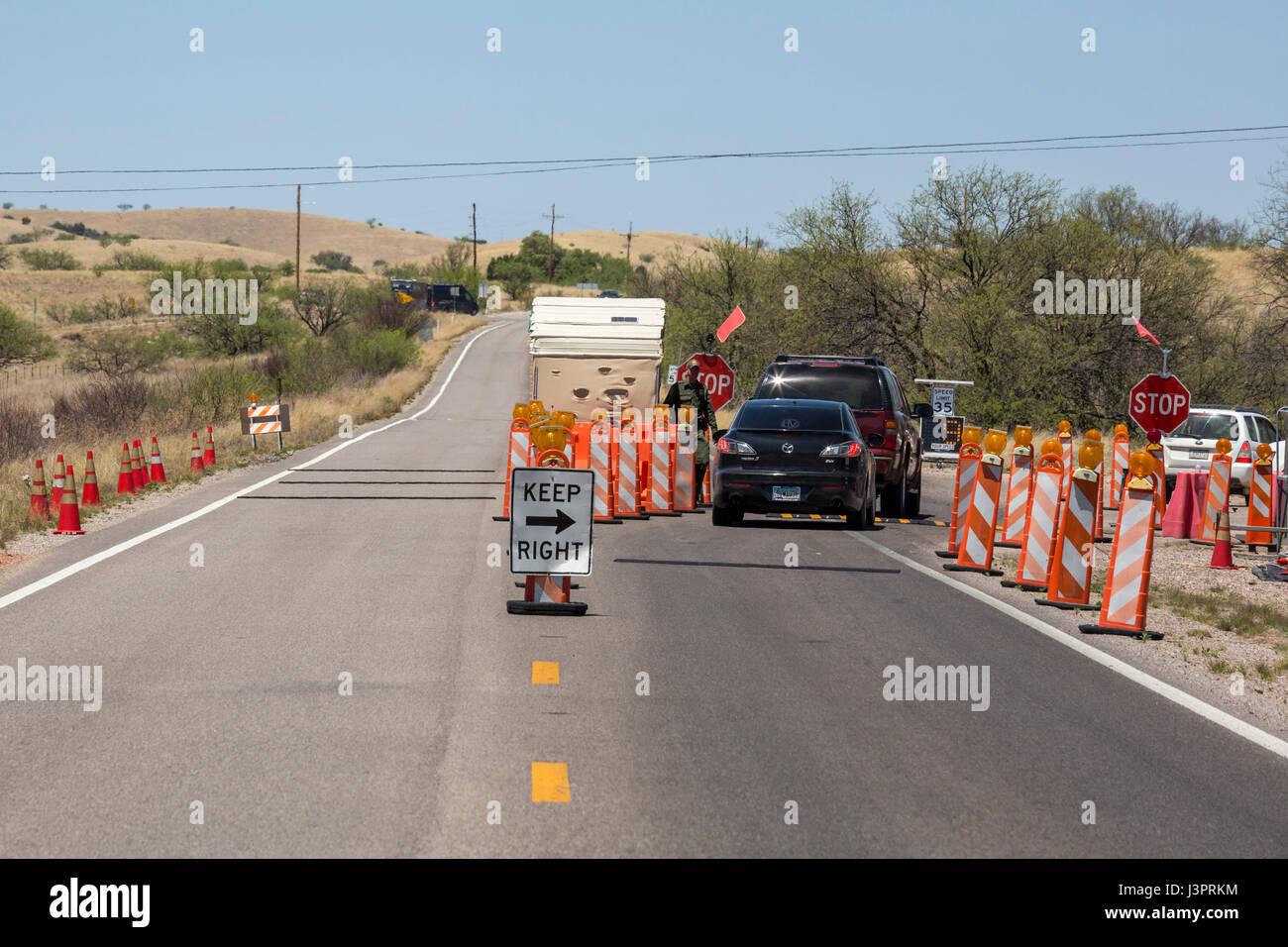 Sonoita Arizona A U S Border Patrol Checkpoint On Arizona Highway  Miles North Of The Mexican Border