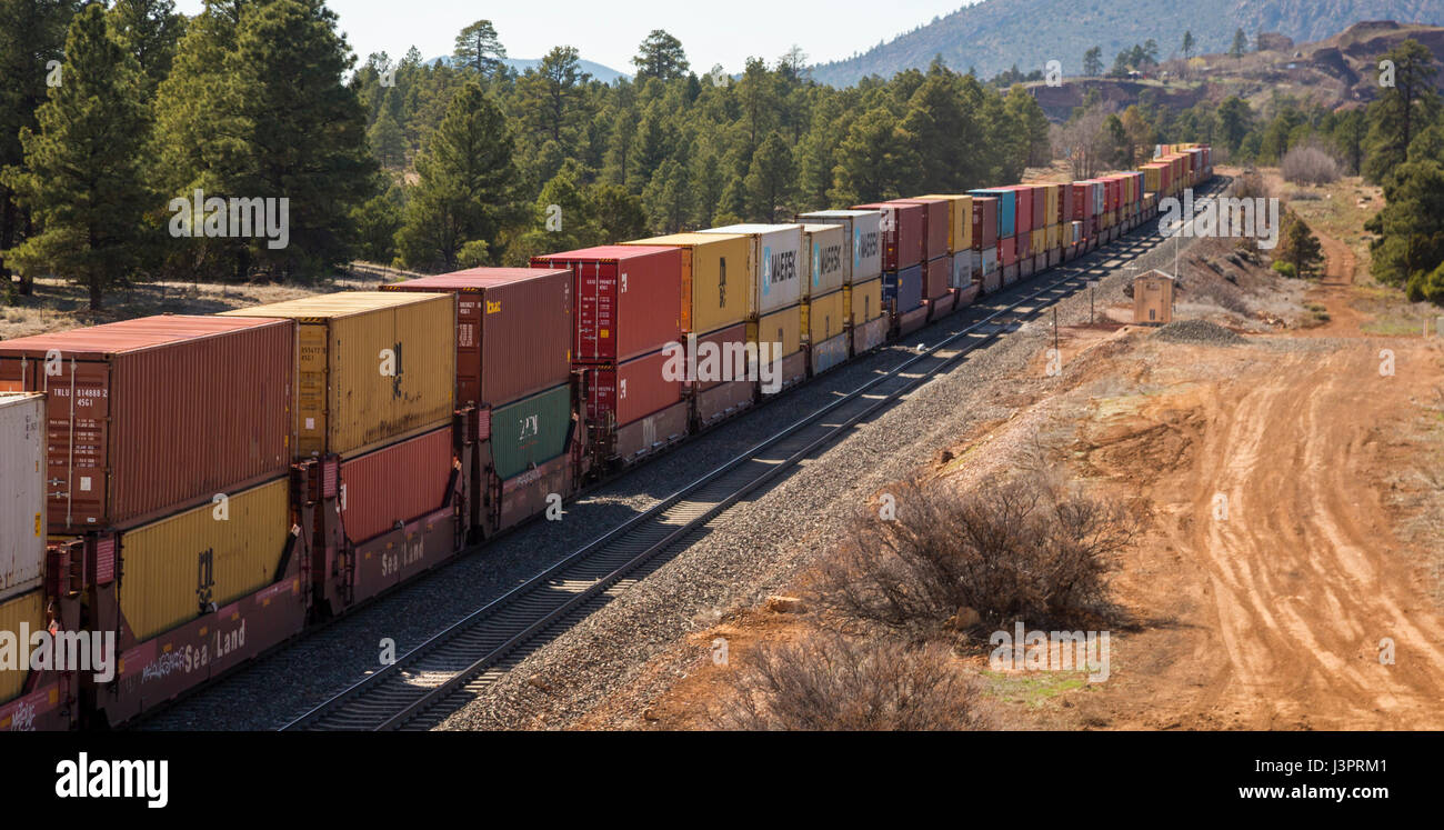 Double Stack Container Train Stock Photos Amp Double Stack