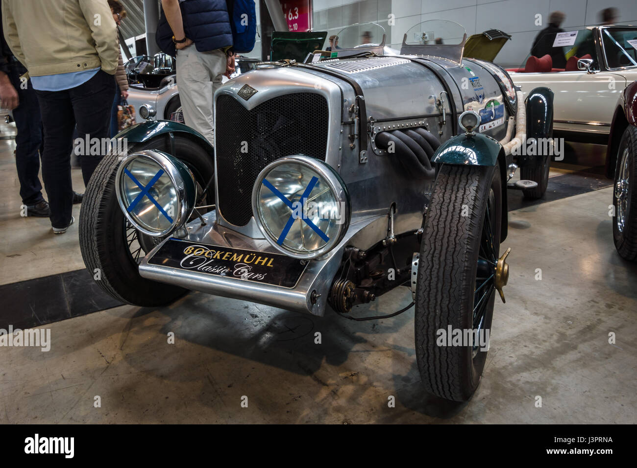 STUTTGART, GERMANY - MARCH 03, 2017: Midsize sports saloon Riley 12/4 Special, 1934. Europe's greatest classic car Stock Photo