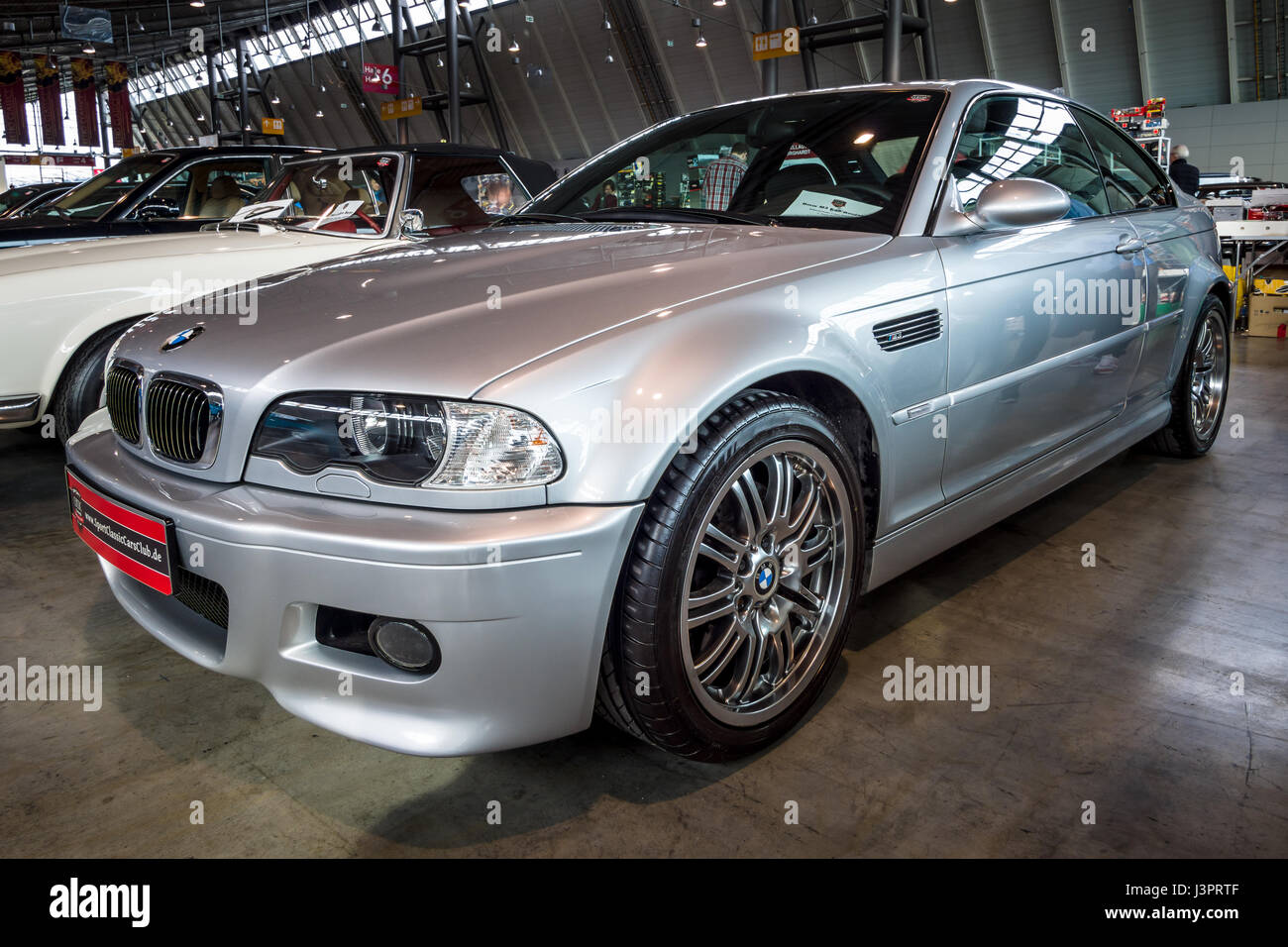STUTTGART, GERMANY - MARCH 03, 2017: Entry-level luxury car BMW M3 (E46). Europe's greatest classic car exhibition - Stock Image
