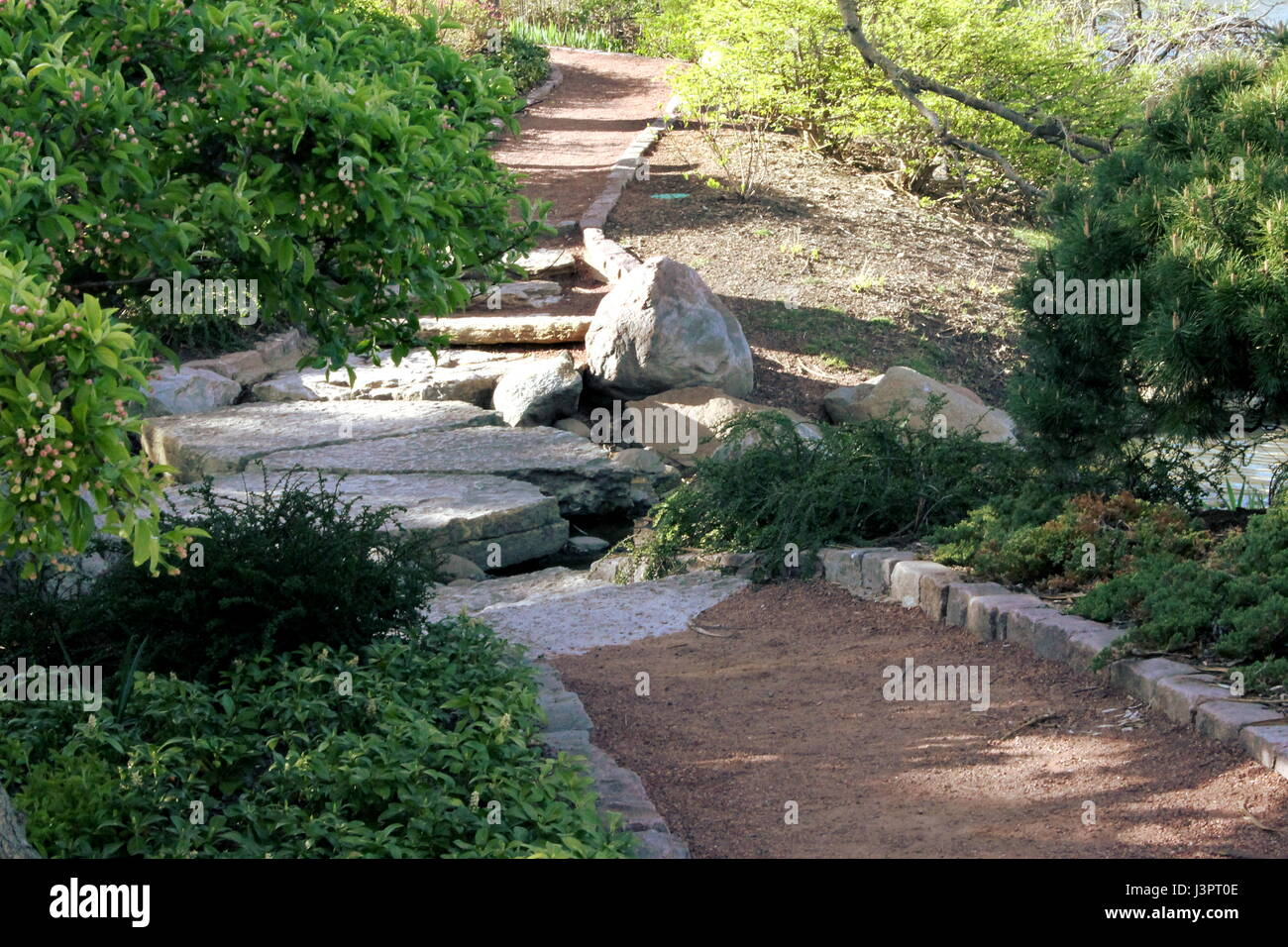 A Walking Path At The Osaka Garden In Jackson Park, Chicago, IL