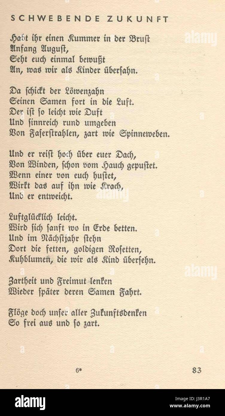 Joachim Ringelnatz Gedichte Dreier Jahre 083 Stock Photo