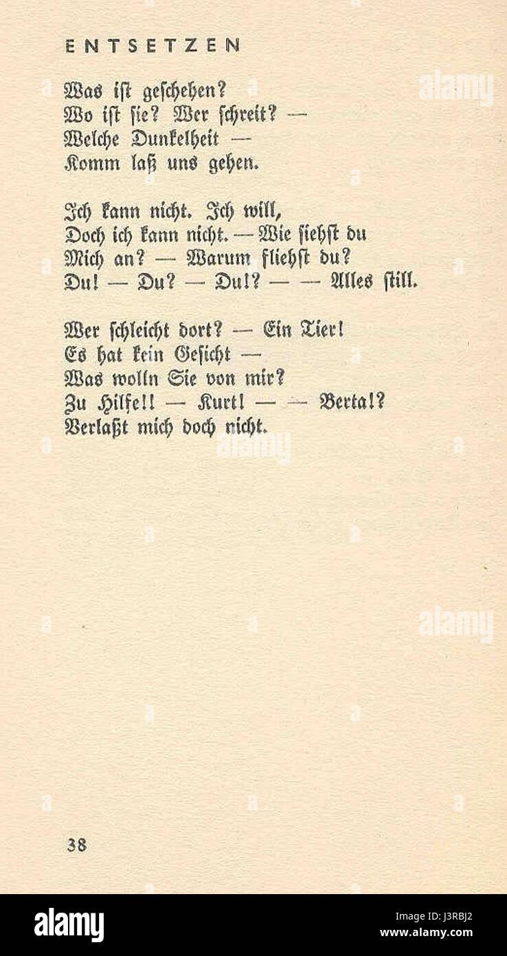 Ringelnatz gedicht vom alter