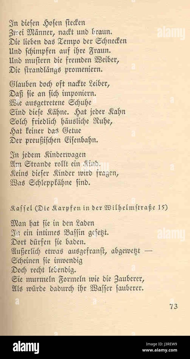 Joachim Ringelnatz 103 Gedichte 73 Stock Photo 140043493