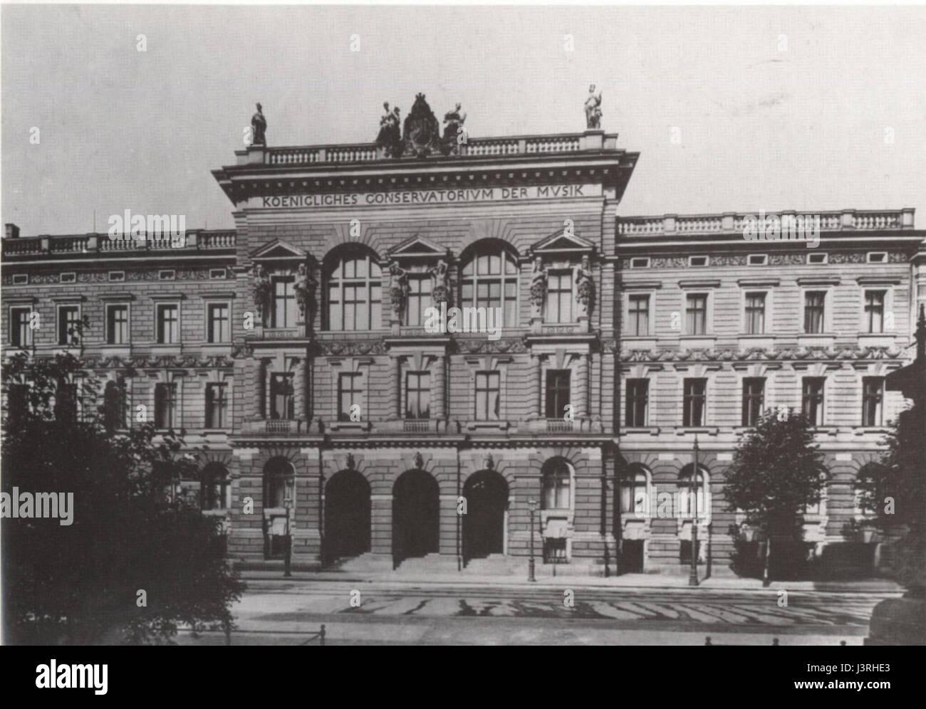 Koenigl Konservatorium Leipzig um 1910 Stock Photo