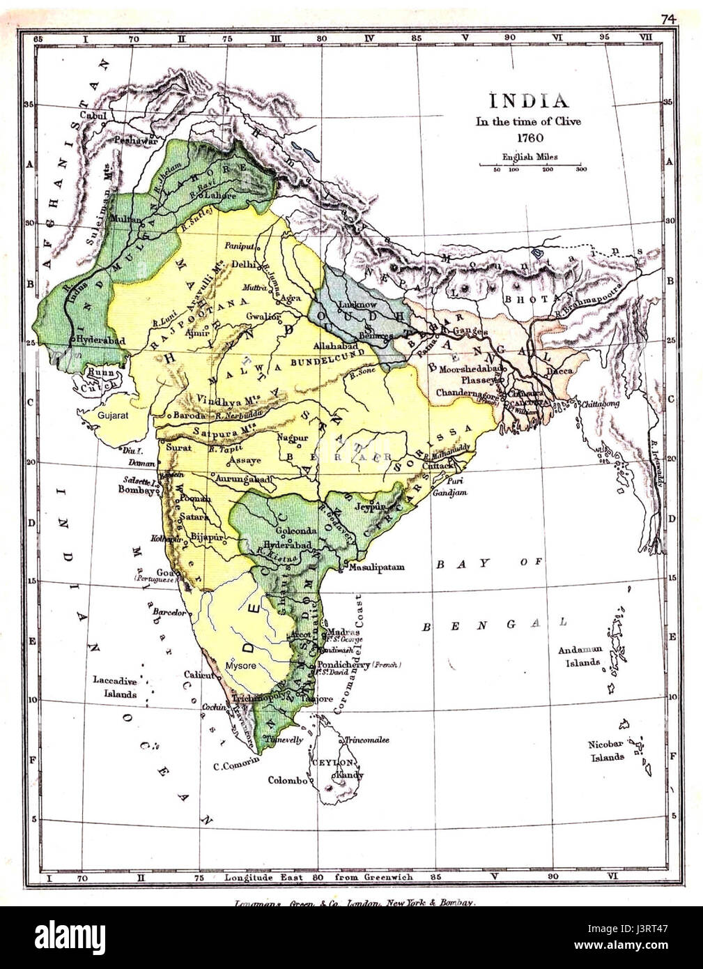 India 1760 map Stock Photo: 140050743 - Alamy on strasbourg map, gstaad map, basel map, hanover map, swiss alps map, zermatt map, dissolution soviet union map, lugano map, wald map, stockholm sweden map, verbier map,