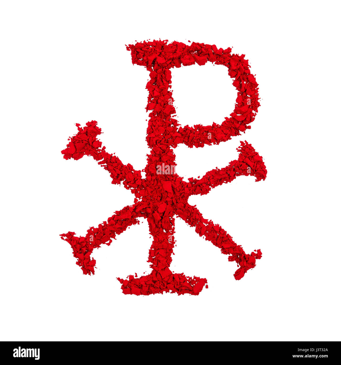Christ The Ancient Greek Symbol For Christ Jesus Made With Red