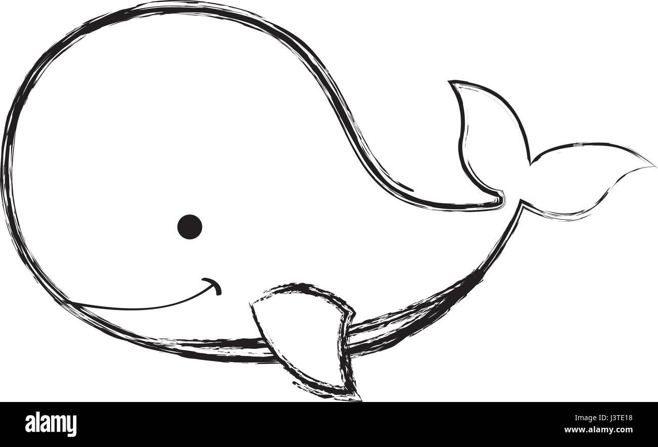 Cute whale tender icon stock image