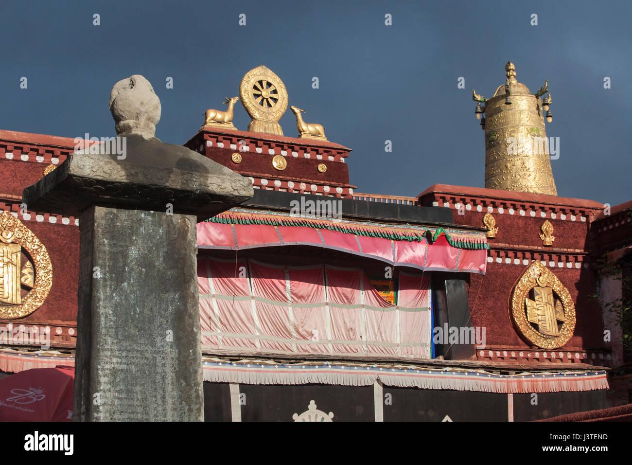 Tang-Tibetan Treaty Pillar and Various other Tibetan Buddhist