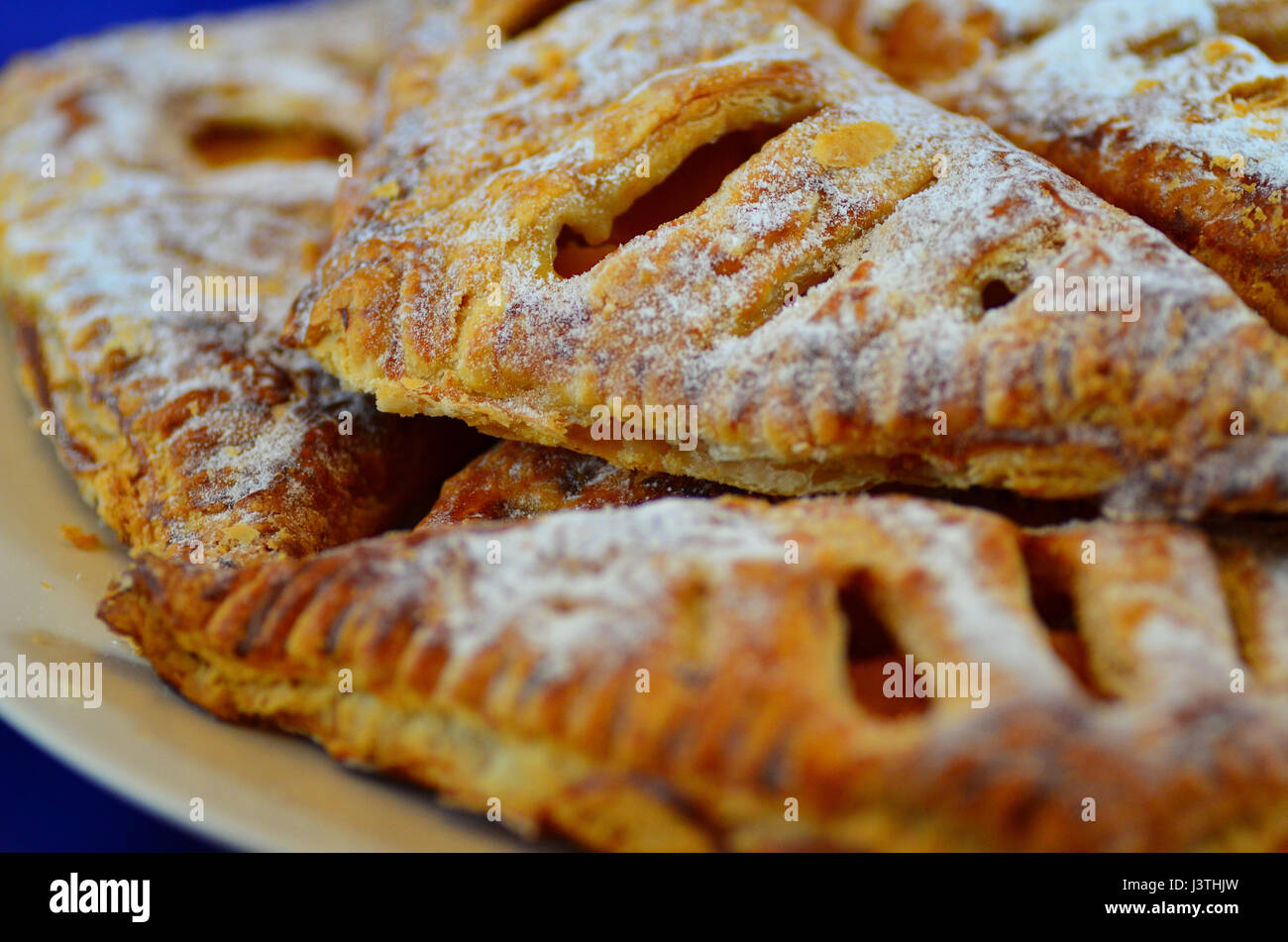 Apple turnover pastry desserts - Stock Image