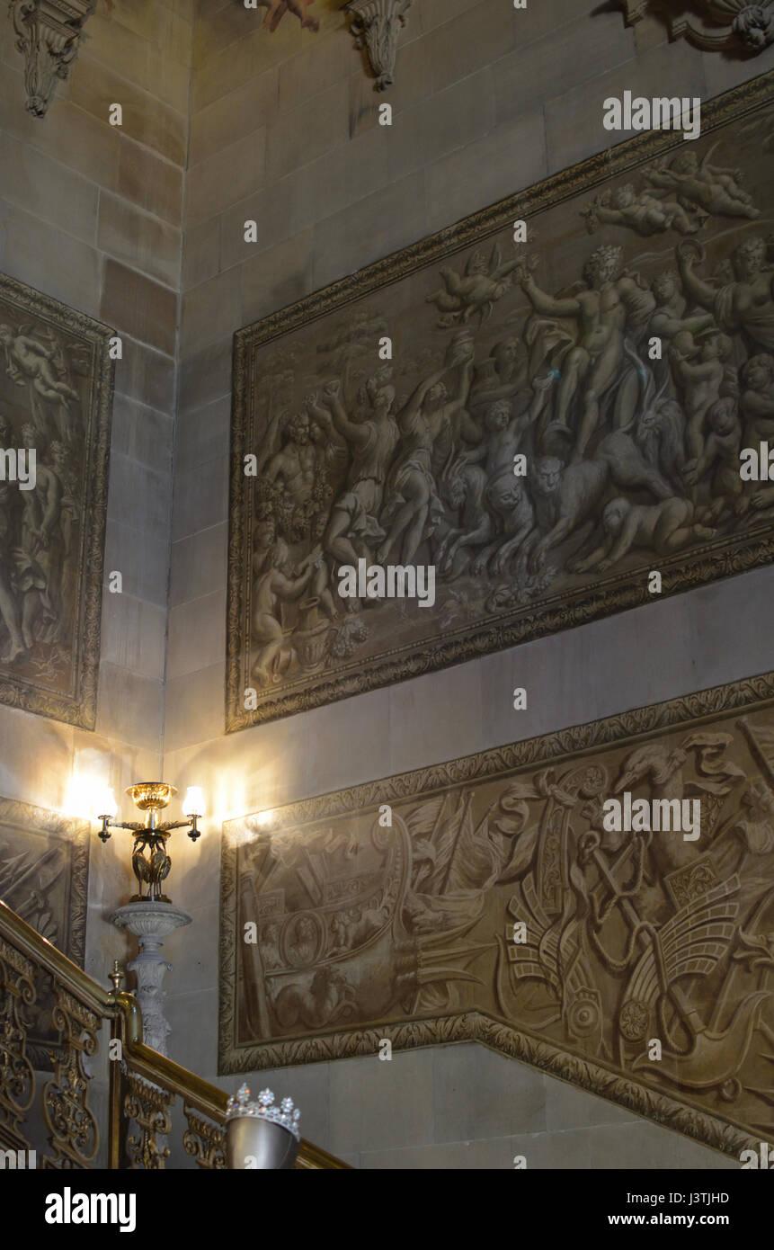 Interior Chatsworth House Derbyshire UK - Stock Image