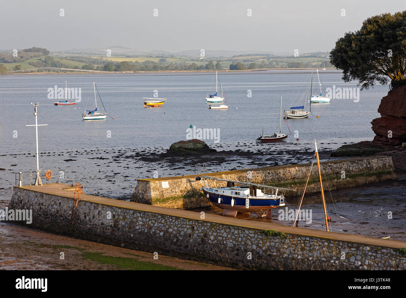 Lympstone Boat Shelter on the River Exe estuary - Stock Image