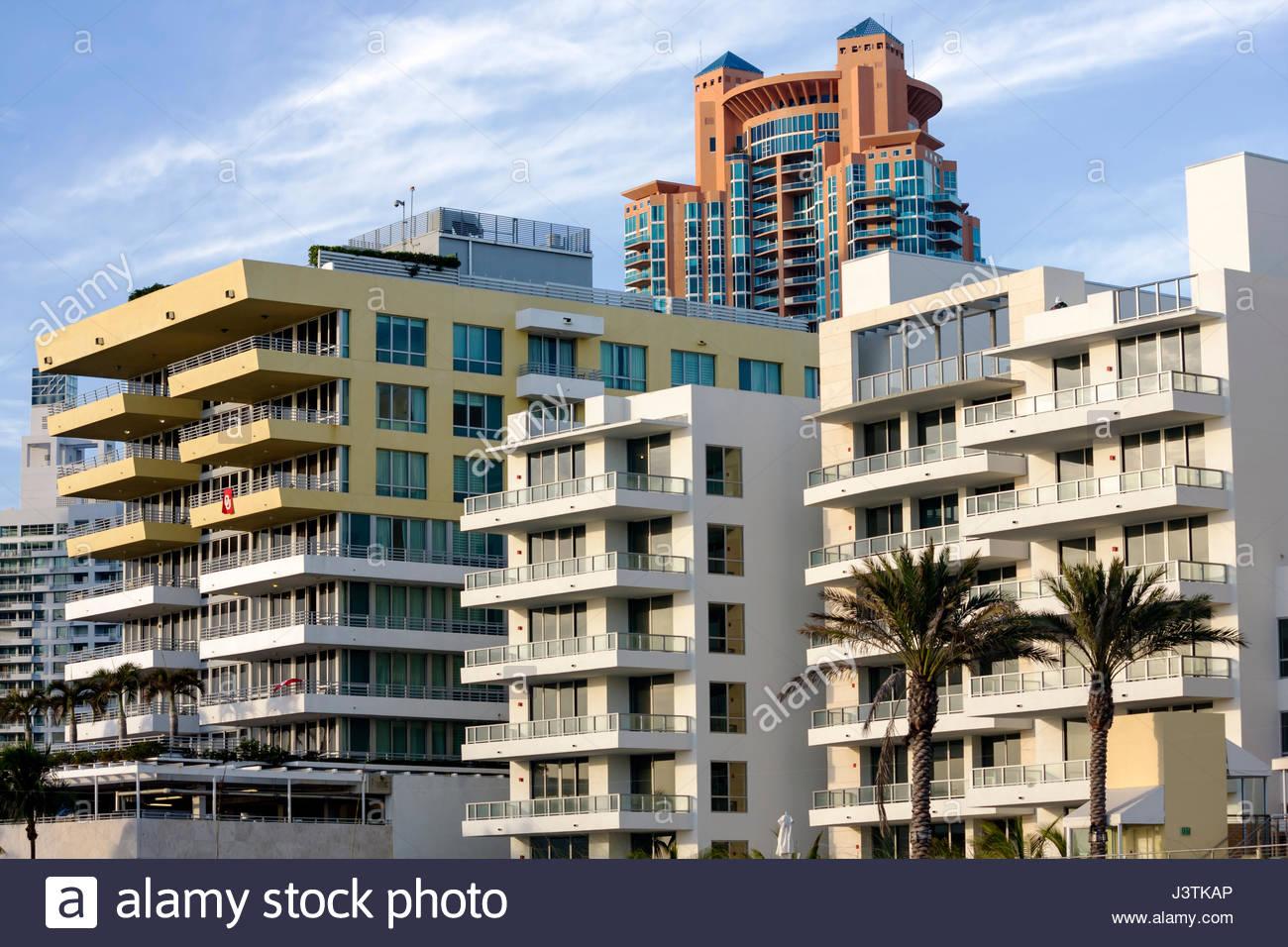miami beach florida south beach south pointe condominium building