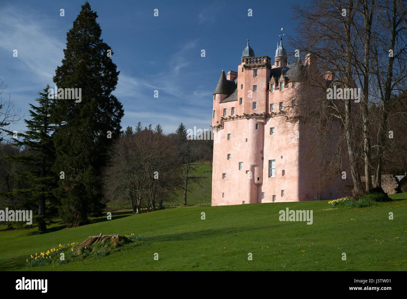 Craigievar Castle in Aberdeenshire, Scotland - Stock Image