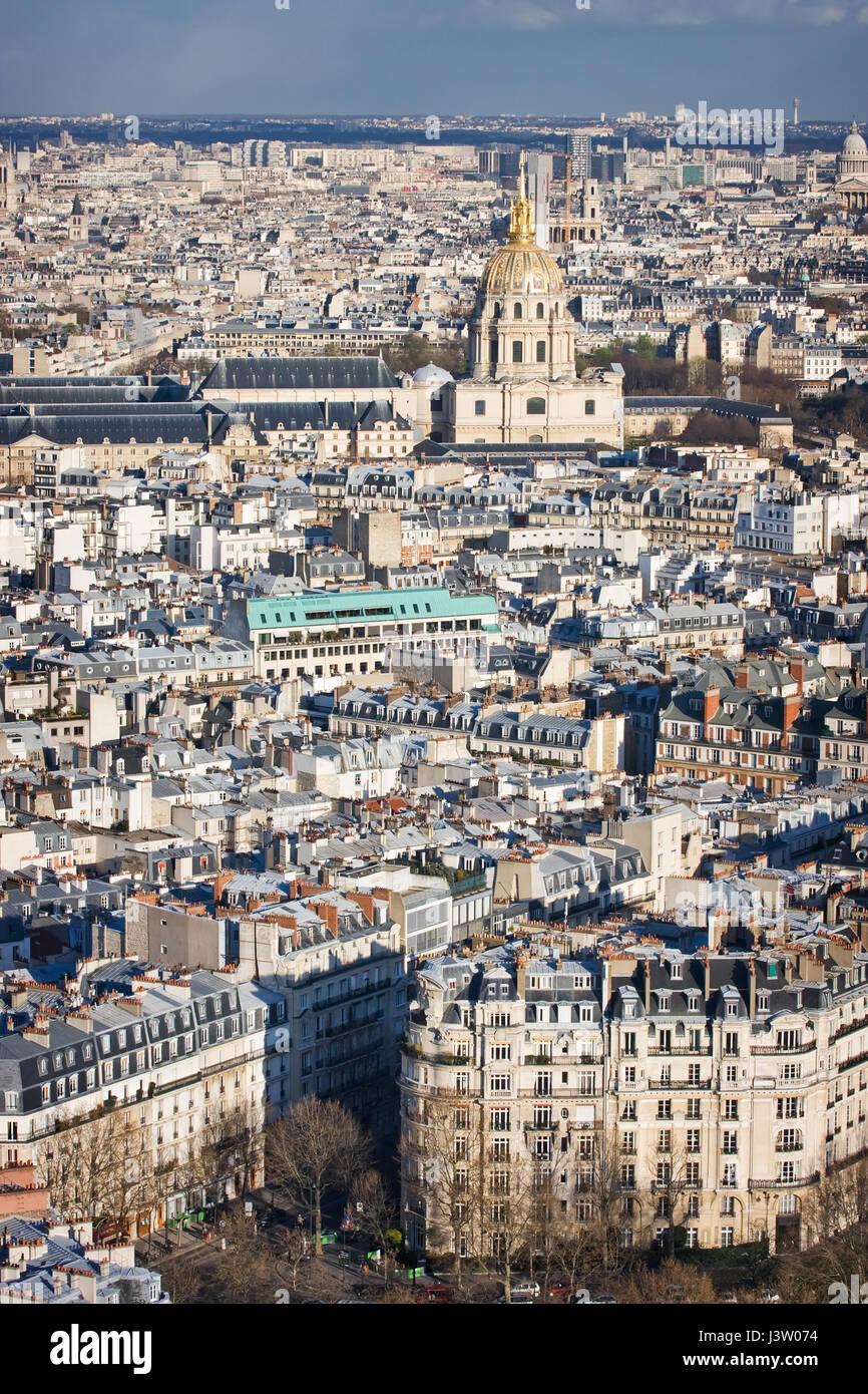 L'hotel national des Invalides. Paris. France - Stock Image
