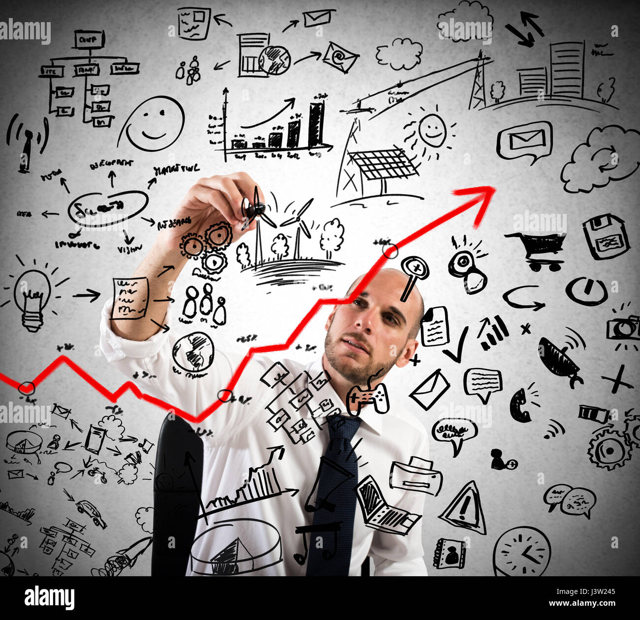 Project of business analysis - Stock Image