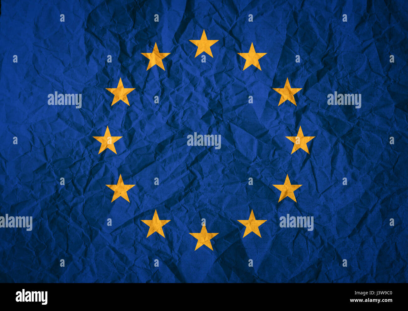 european union EU flag - Stock Image