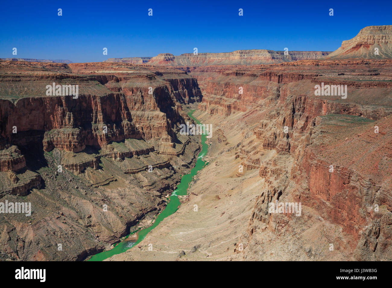 colorado river in the fishtail rapids area of grand canyon national park, arizona Stock Photo