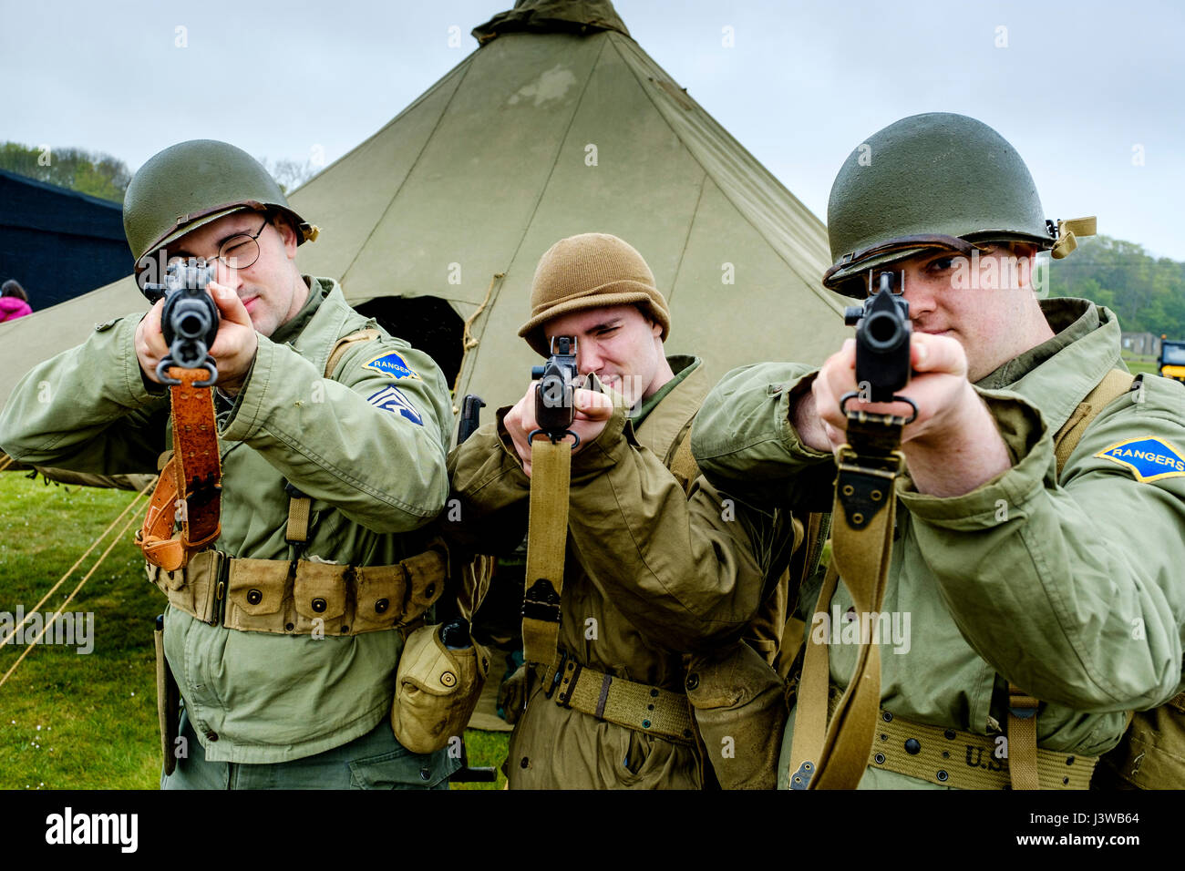 Sunday 7th May 2017 East Fortune, Scotland:  Wartime Experience at the National Museum of Flight, East Fortune. - Stock Image
