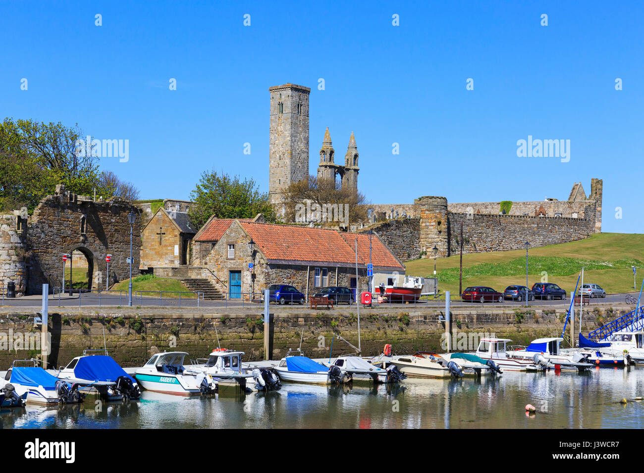 Harbour at St Andrews, Fife, Scotland - Stock Image