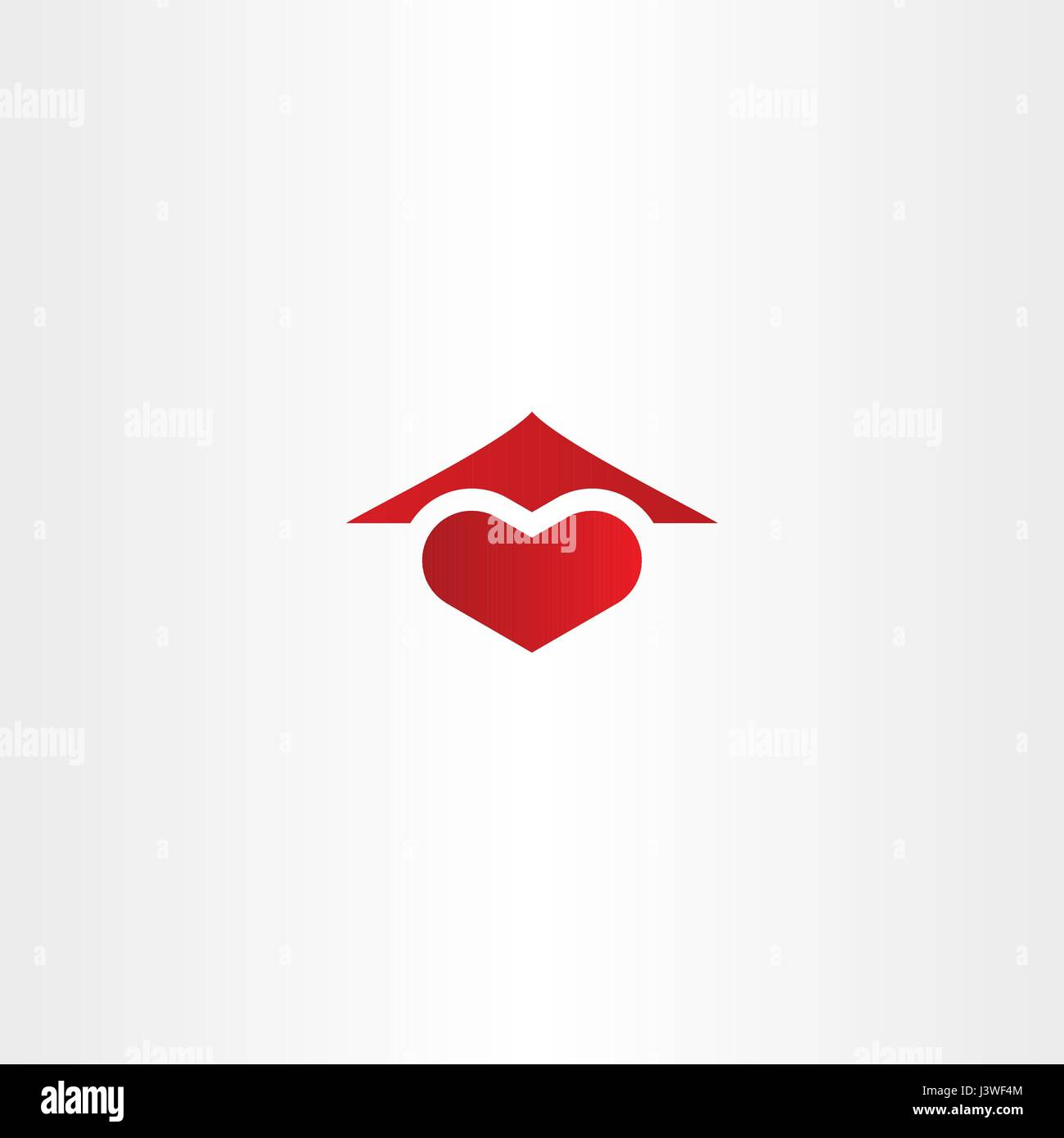 home sweet home logo heart and house roof icon design - Stock Vector