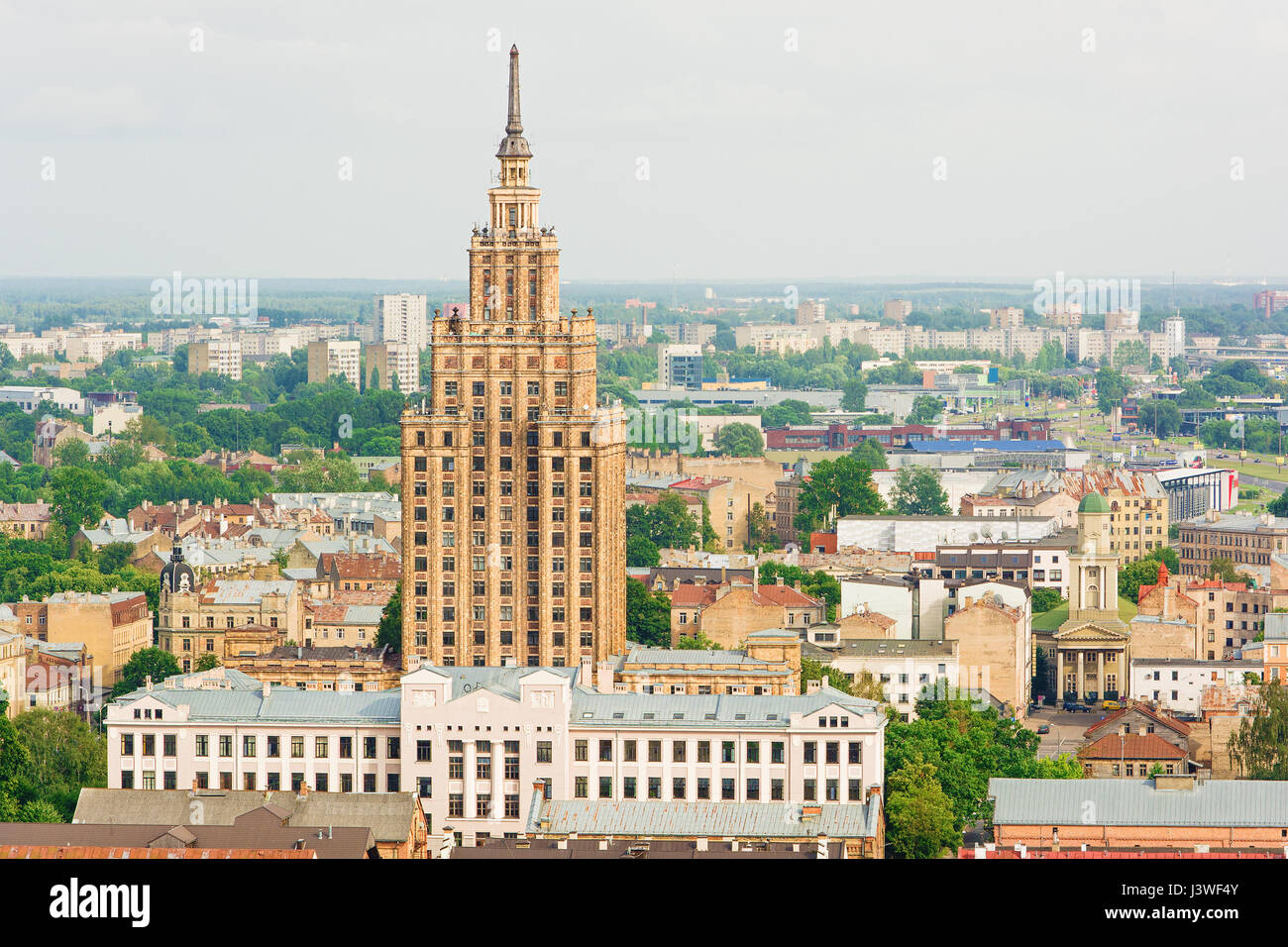 Latvian Academy of Science in Riga (Latvia) - Stock Image