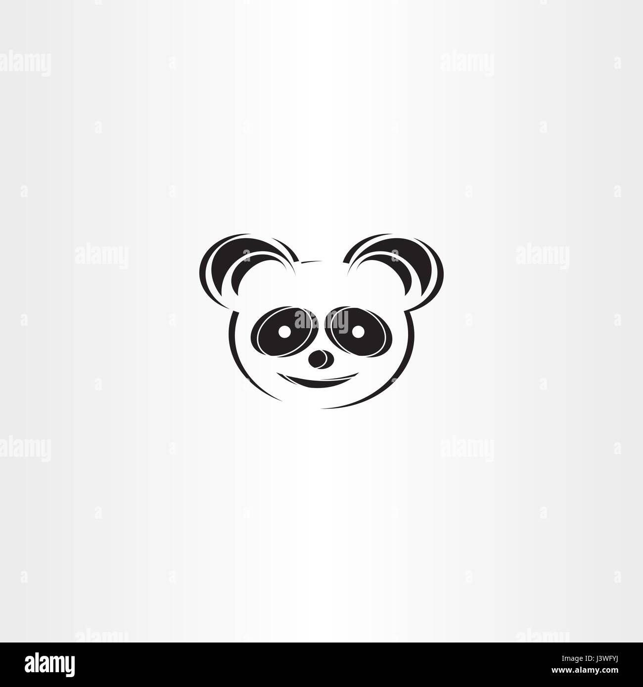 panda icon stylised vector bear symbol - Stock Vector