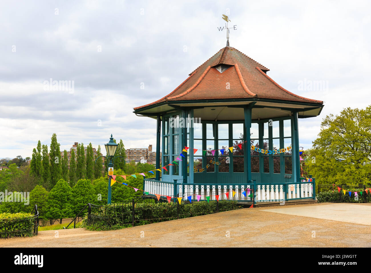 The restored Bandstand, Horniman Gardens, Forest Hill, London Stock Photo