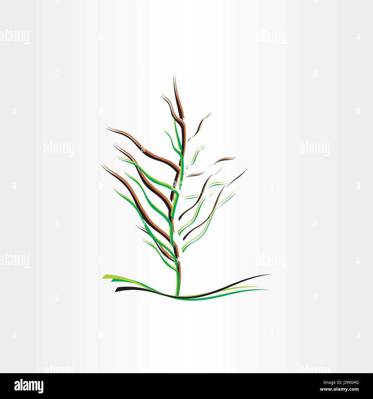stylised tree vector illustration design icon - Stock Vector
