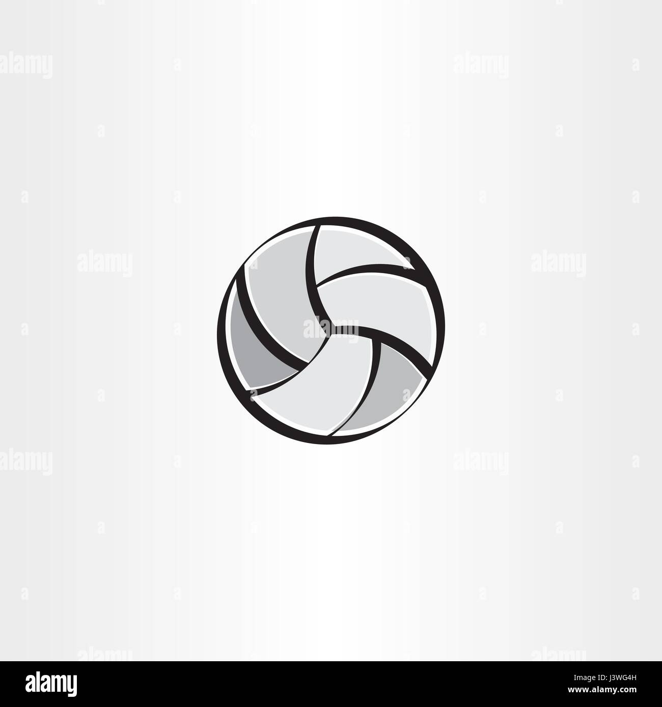 stylised volleyball icon vector circle - Stock Vector