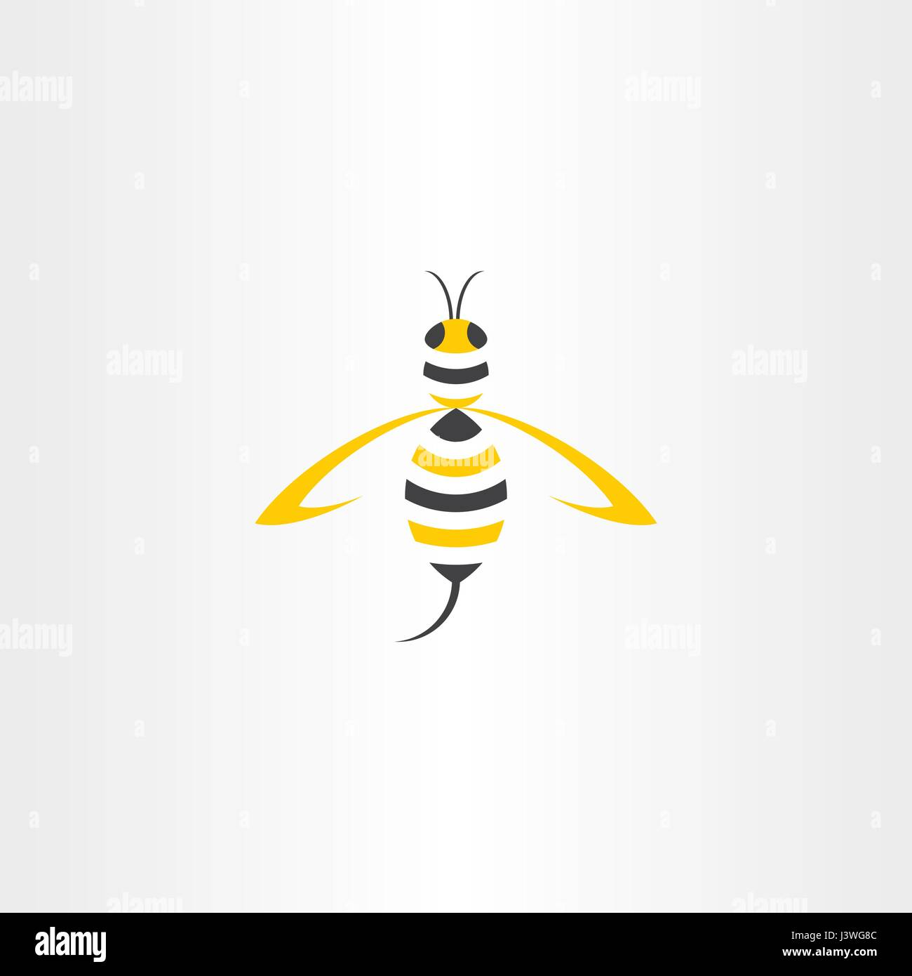 wasp stylised vector icon logo design - Stock Vector