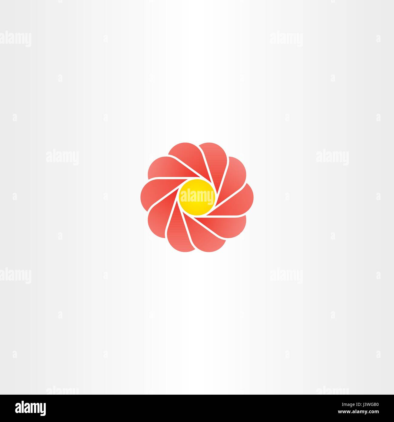 Yellow Red Flower Circle Logo Vector Sign Icon Stock Vector Art
