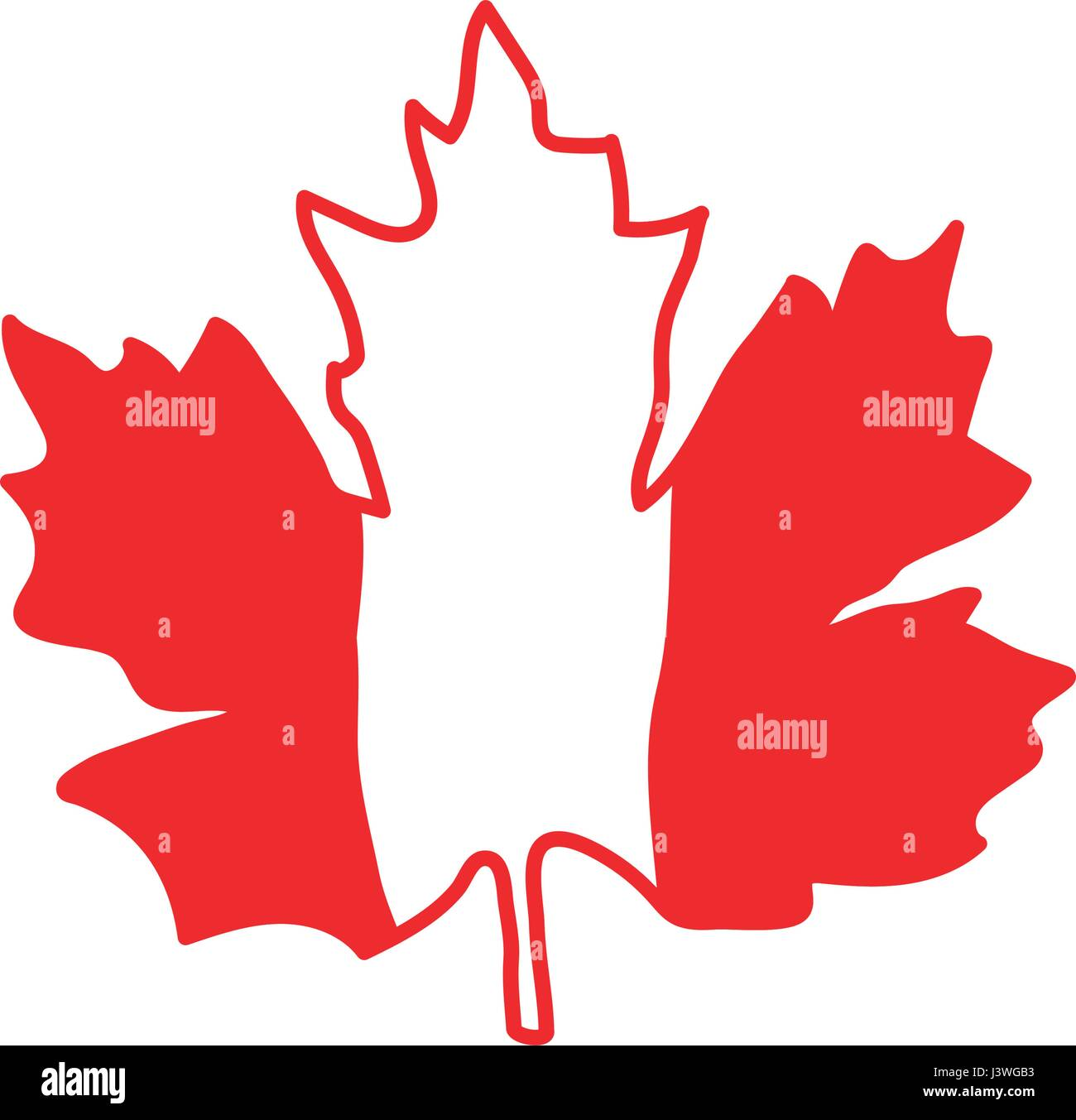 Vector Illustration With Striped Maple Leaf Symbol Of Canada Flag