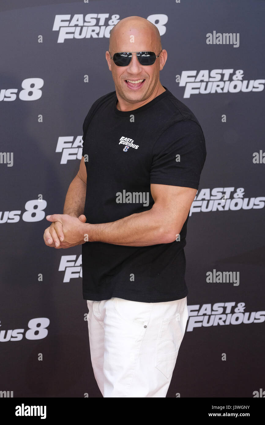'Fast And Furious 8' photocall in Madrid  Featuring: Vin Diesel Where: Madrid, Spain When: 06 Apr 2017 - Stock Image