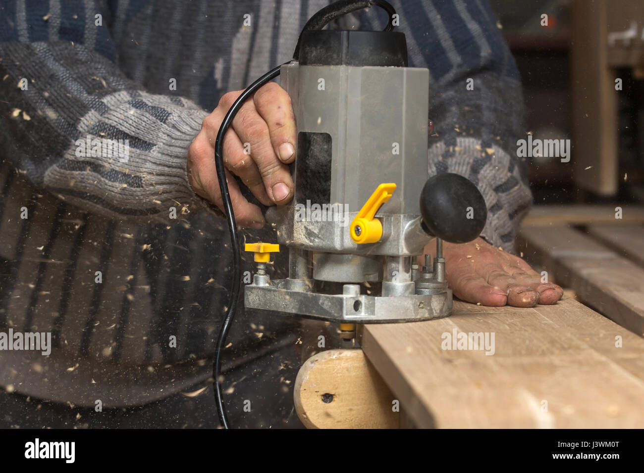 joinery, woodworkers shop - Stock Image